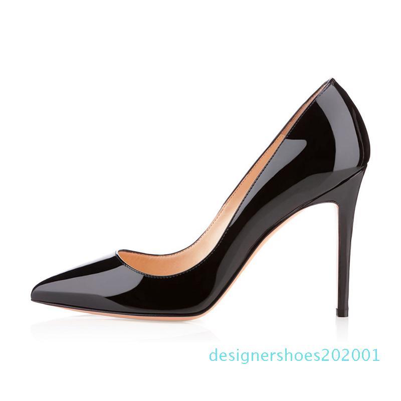 2020 KUTU + Toz Torbası modacı bayan ayakkabı taban yüksek topuklu 8 ile 10 cm 12cm çıplak siyah deri Sivri Toes Elbise ayakkabı D01 Pompalar kırmızı