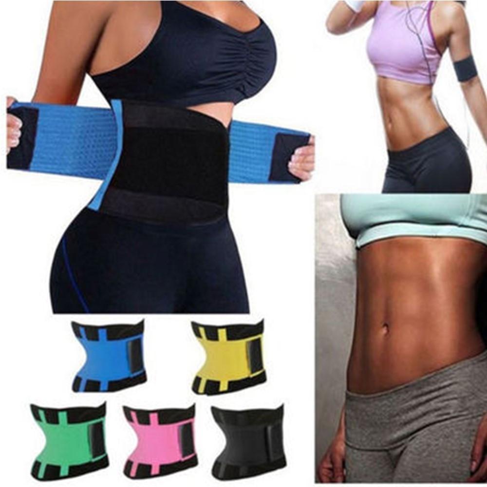 8 개 색상 플러스 사이즈 최저 허리 트레이너에 대한 열 Cincher에서 코르셋 요가 스포츠 셰이퍼 벨트 슬림 운동 허리 지원 땀 사우나 여성