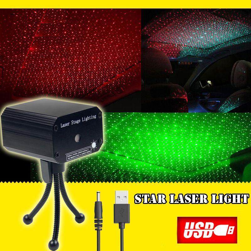 أحمر مرحلة جديدة النجوم السماء البسيطة والليزر الأخضر ضوء الليزر الخفيفة المحمولة الشحن كنز USB سليمة لمراقبة السيارات