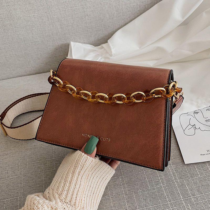 2020 Moda Borse Donna Borse Borsa A Tracolla Messenger Femminile Semplice Moda Donna PU Leather Bag chaofaner/4