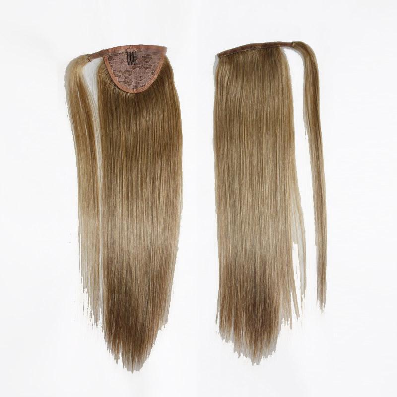 Capelli umani CE diplomato brasiliano Remy Coda di cavallo Equiseto in su estensione dei capelli umani dei capelli diritti 100g set colori diversi