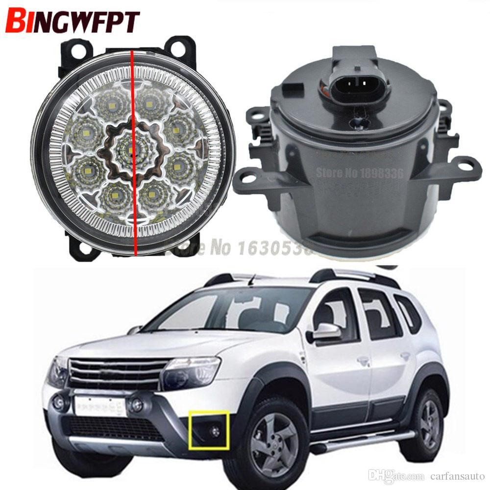 2x Voiture Styling 6000K Blanc Haute Puissance LED Brouillard Lampes DRL Lumières Pour Renault Duster Fermé Véhicule Hors Route 2012-2015