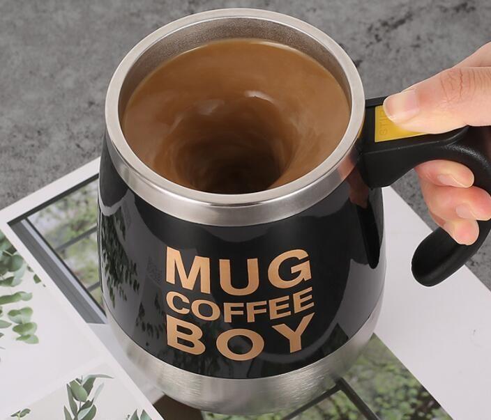 Нержавеющая сталь 304 автоматическая чашка смешивания намагниченная чашка кружки электрическая кофейная чашка