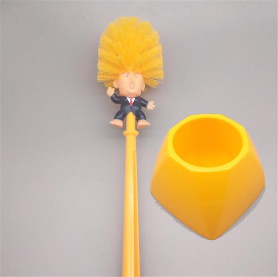 Sanitär V-Typ WC-Bürste Trump Curved gebogener Griff Reinigung Scrubber Reiniger reinigen Trump-Bürste für Haushalts-Reinigungs-Corner (Farbe Ra # 500
