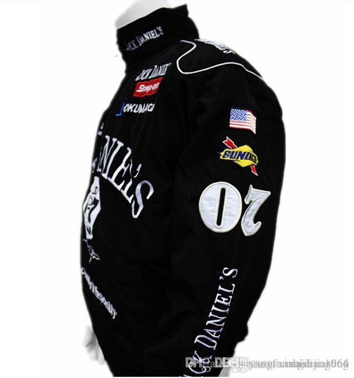2017 Черный Джек Даниэль куртка мужская MOTO GP мотоцикл авто f1 мужчины куртки пальто