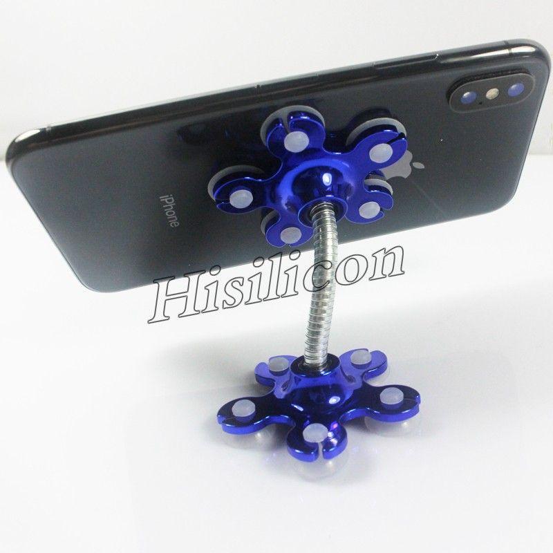 Bunte Magie Saugnapf Handy-Halterung Universal-Handy-Halter Standplatz für iPhone X XS MAX XR 7 8 Plus Samsung S10