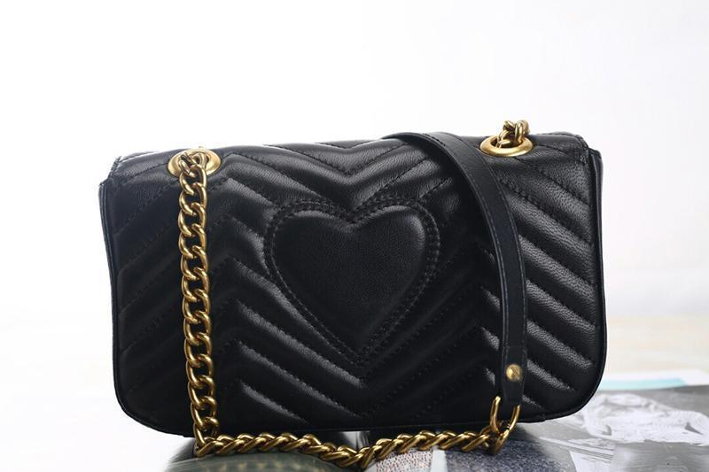 Marmont에 가방 443497 럭셔리 핸드백 높은 품질의 디자이너 핸드백 원래 부드러운 양 가죽 정품 가죽 여성의 어깨 패션 꿀벌 가방