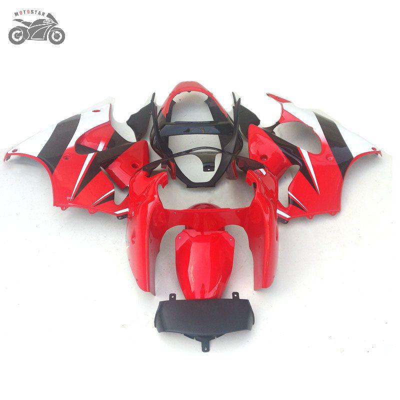 Kawasaki Enjeksiyon motosiklet parçaları 2000 2001 2002 Ninja ZX6R ZX 6R 00-02 ZX-636 karayolu spor Çinli plastik grenaj seti ABS