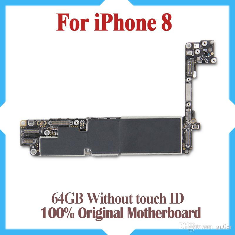 64GB 256GB for iphone 8 Motherboard with IOS System,100% Original unlocked for iphone 8 Logic board without Touch ID,No iCloud