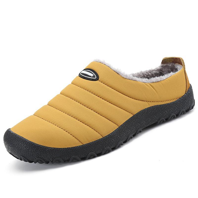 Christmas Winter Slippers Men Outdoor Warm Plush Slippers Mens Shoes Anti-skid Unisex Casual Flip Flops Zapatos De Hombre