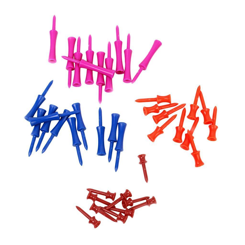 40pcs 4 colores mezclados Tamaños de plástico Paso Tee de golf Accesorios de entrenamiento 40Pcs Mezclados grande barato con precio RQsZr