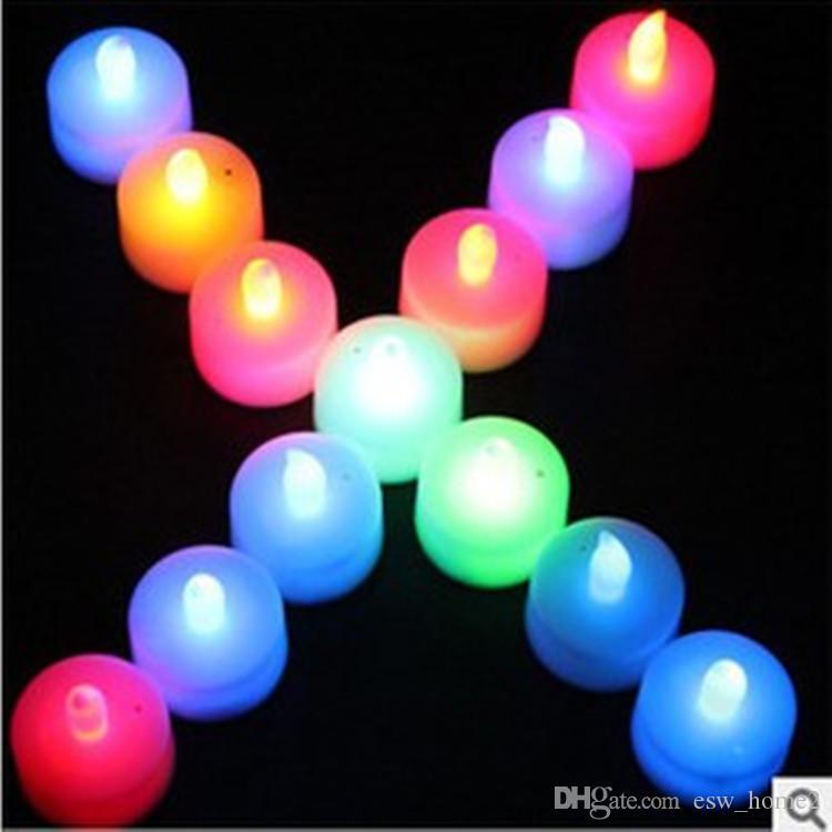 배터리 촛불 램프 양초 친환경 발렌타인 캔들 웨딩 빛나는 빛 생일 양초 선물 룸 초롱 숍 장식 조명