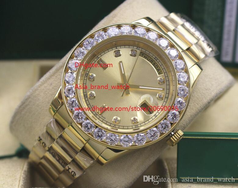 Lüks Yüksek Kalite İzle 18 k sarı altın 41mm 116610 elmas klasik Serisi Asya 2813 hareketi mekanik otomatik Mens Watch saatler