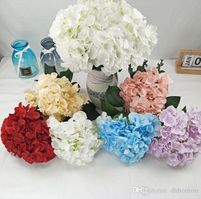Five forks Hydrangea Bounquet artificial flowers for wedding decoration beautiful silk flower 5 Heads silk Hydrangea