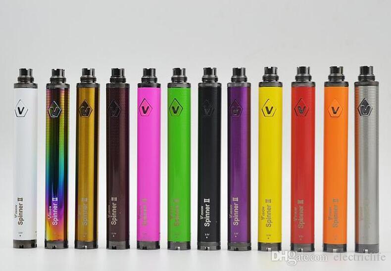Visão Spinner II 2 torção bateria 1600mAh Capacidade VV Mini 0.1V Tensão E Cigarette Vape Pen Ego EVOD 510 Tópico