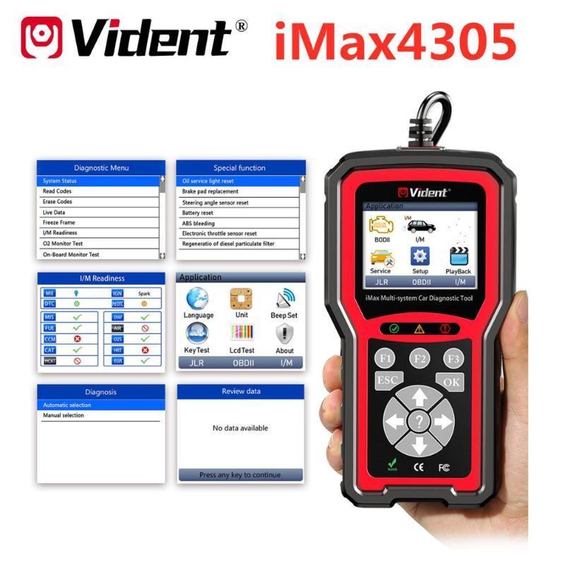 Vident iMax4305 completa del sistema OBD herramienta de diagnóstico de Vauxhall / / Rover reinicio del servicio de diagnóstico OBDII