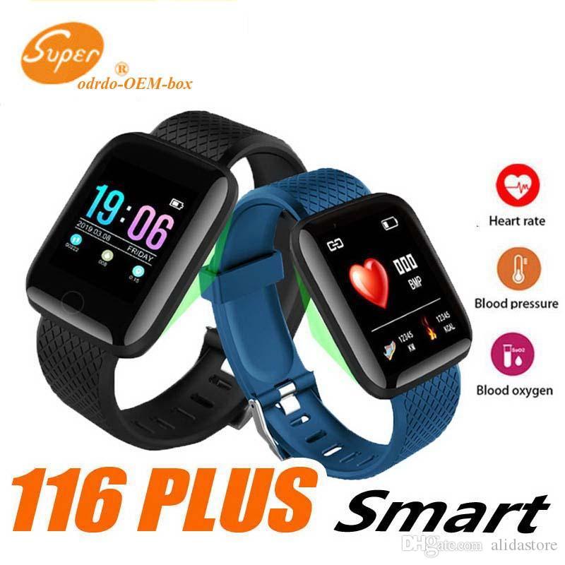 Beste 116 Plus Smart Uhr Armbänder Fitness Tracker Herzfrequenz Armband Schrittzähler Aktivitätsmonitor Band PK 115 PLUS für iphone Android