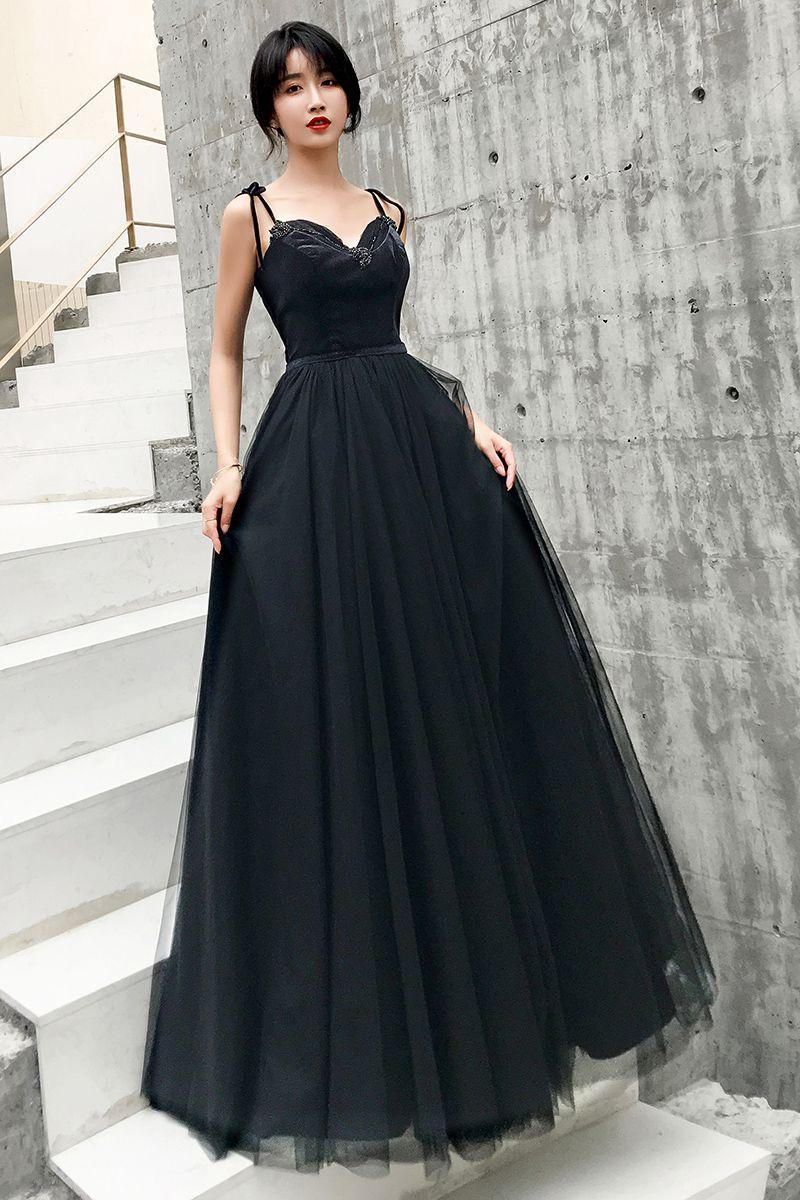 Compre Una Línea De Vestidos De Novia Negro Gótico Con Correas Con Cordones Hasta El Suelo Hasta El Suelo Vintage Mujeres Vestidos De Novia Simples No