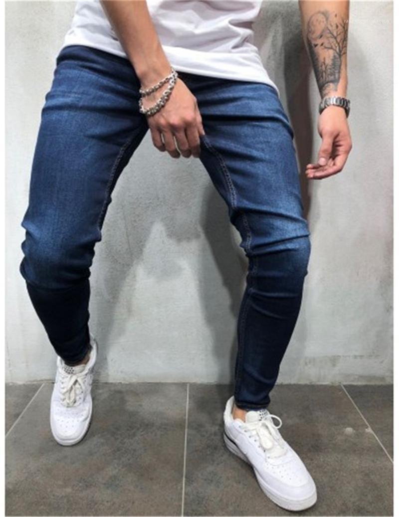 Compre Jeans Azul Oscuro Calle Hiphop Denim Lapiz Pantalones Casuales Para Hombre Ligero Lavado Vaqueros Para Hombre Del Disenador A 19 96 Del Rapperxxxtentacion Dhgate Com