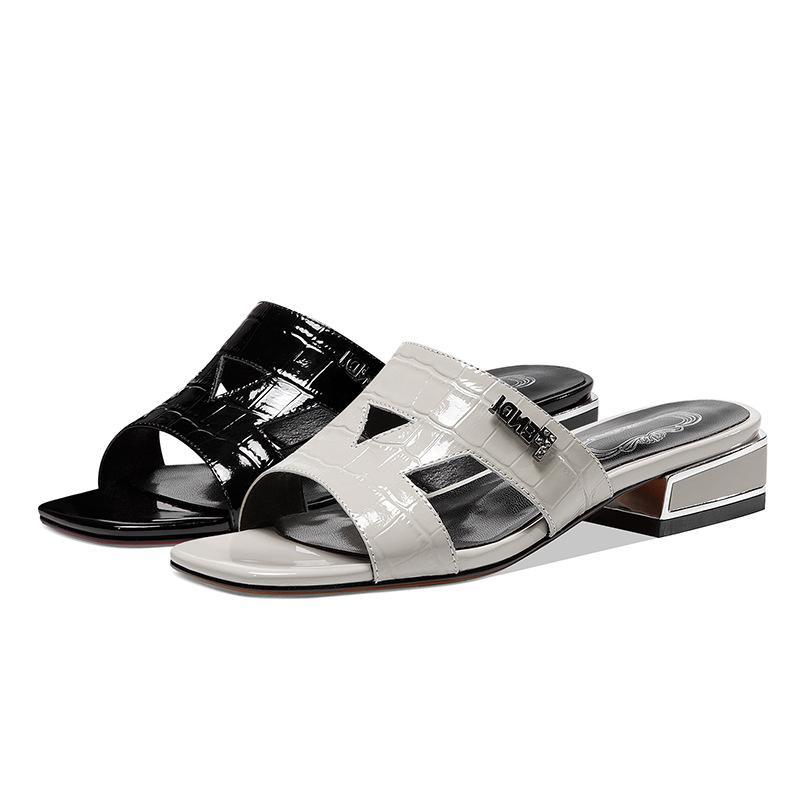 Sandalias de las mujeres PGXXZLX 2020 mejor venta del cuero genuino sandalias de las mujeres zapatos planos de las mujeres más del tamaño zapatos de las mujeres del verano de los deslizadores