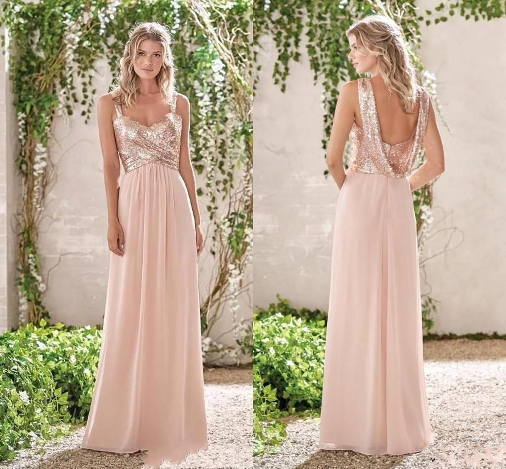 Rose Gold And Champagne Bridesmaid Dresses 53 Off Dktotal Dk