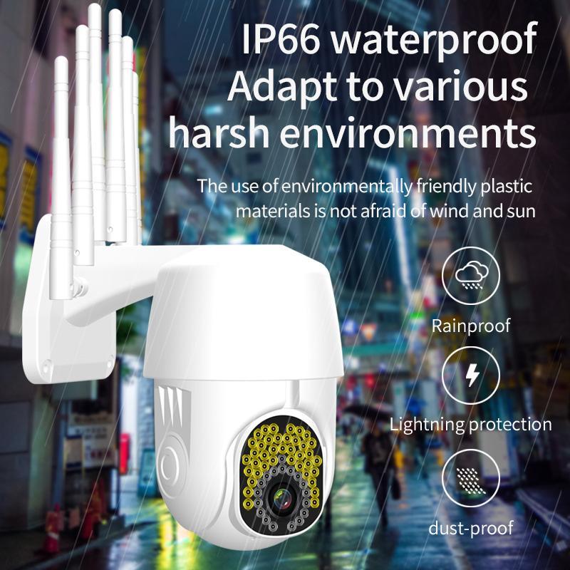 سحابة 1080P واي فاي PTZ كاميرا في الهواء الطلق 2MP HD يلة اللون رؤية السيارات تتبع CCTV كاميرا كاميرا أمن الوطن IP كاميرا مضادة للماء سرعة قبة