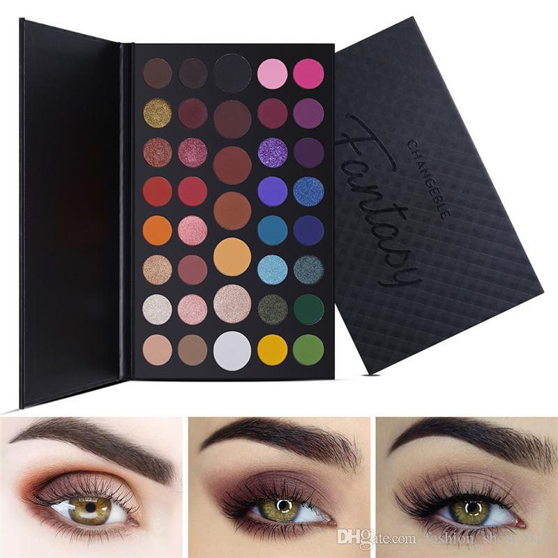 UCANBE 39 Color Eyeshadow Palette Metallic Eye Shadow Deeply Pigmented Makeup Shimmer Matte Glitter Waterproof Cosmetics