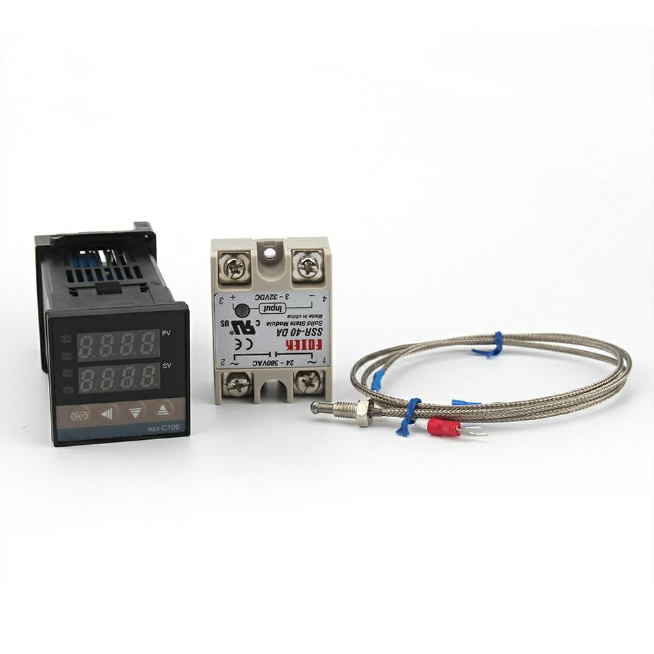 220V Pid REX-C100 Temperatur Steuerung max.40A Ssr K Thermoelement
