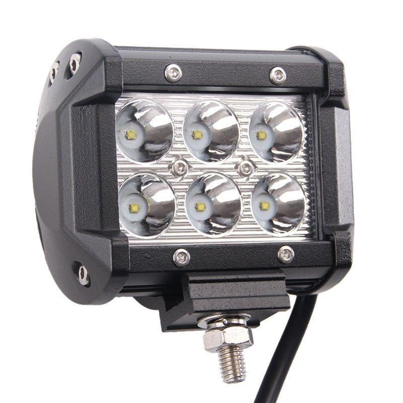 4-дюймовый 18 Вт Двойные строки Offroad 4x4 автомобиль 12 В 24 В водонепроницаемый POPENT POTE BEAM 5D LED Light Bar Car Рабочий свет