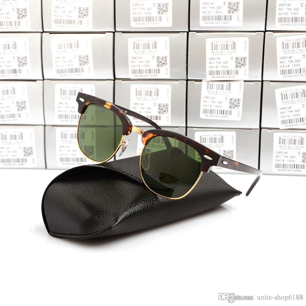 High Quality Metal hinge Brand Designer UV400 Sunglasses black sun glasses mens Sunglasses womens New Brand Club glasses with cases and boxs