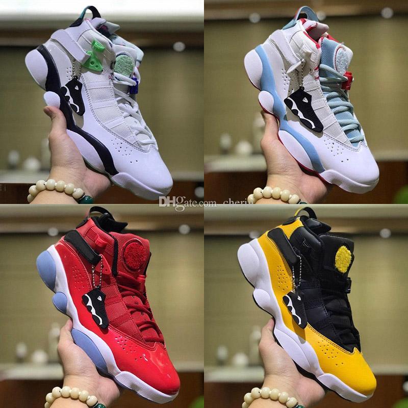 Zapatos de baloncesto 6s 6 anillos Athentic Entrenadores Casual 6 consecutivos Campeonato Maroon diseño deportivo Para mujer para hombre