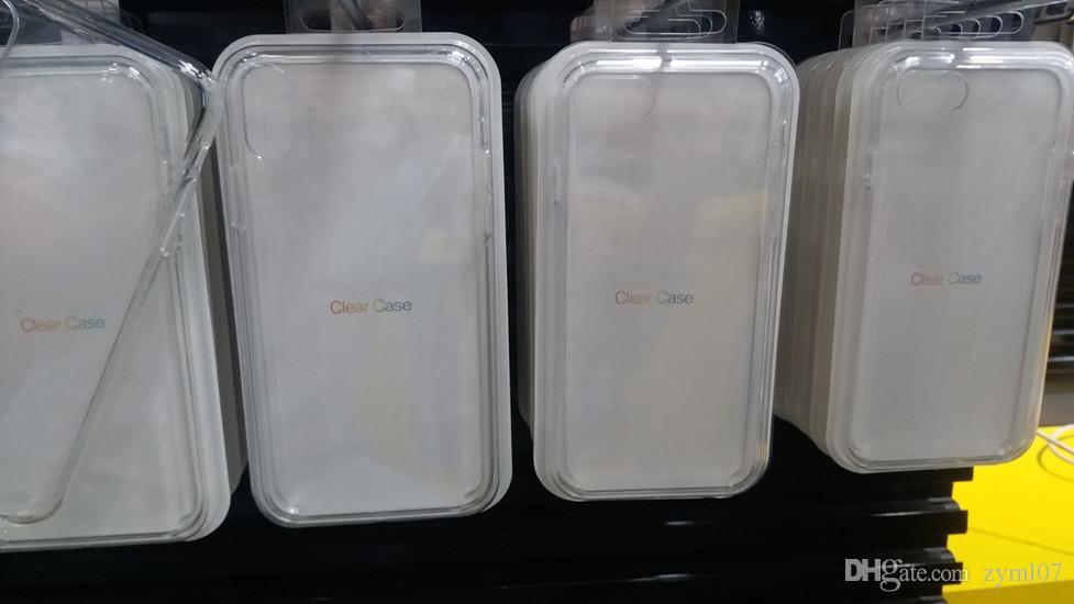 Wholesale Original estilo oficial limpar apple case para iphone x xs max xr case para iphone 7 8 plus tampa transparente com caixa de varejo