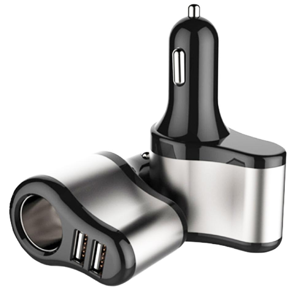 Car Dual USB Electronic Cigarette Lighter Car Lighter Charger Socket Splitter Adapter 5V 3.1A Charger for Phone MP3 DVR 12V-24V