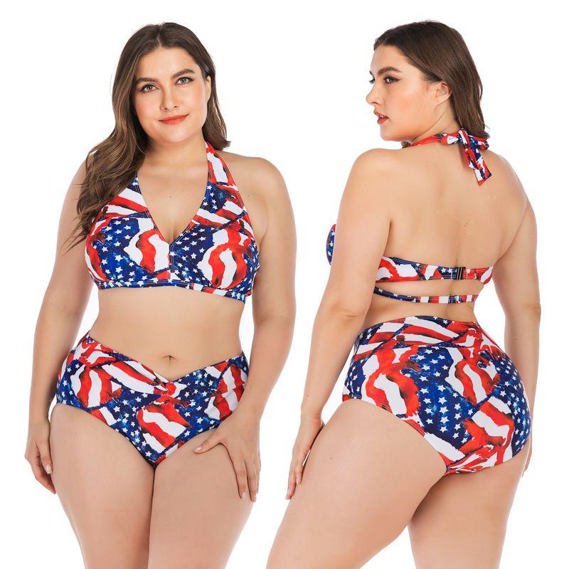 DROZENO Seksi Bikini Artı boyutu Bandaj Derin V Mayo Bayan Mayo Push Up Büyük Meme mayolar Kadın L ~ 4XL Mayo Wome