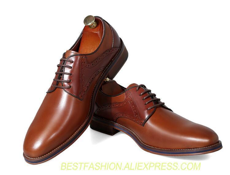 Mens Carving Pumps Shoes Real Leather Lace Up Chunky Dress Formal Oxfords Shoes