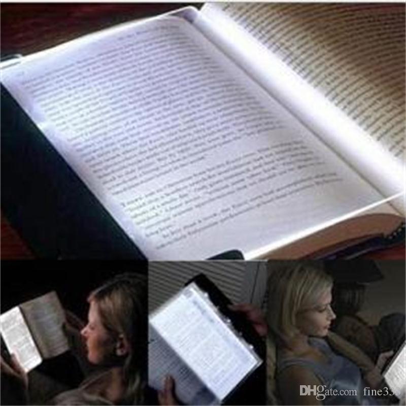 الإبداعي led كتاب القراءة الخفيفة ليلة ضوء لوحة مسطحة السفر المحمولة لوحة led مكتب مصباح للمنازل نوم الاطفال