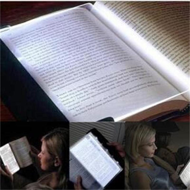 Creative LED Book Light Reading Night Light Flat Plate Portable Car Travel Panel Led Desk Lamp for Home Indoor Kids Bedroom