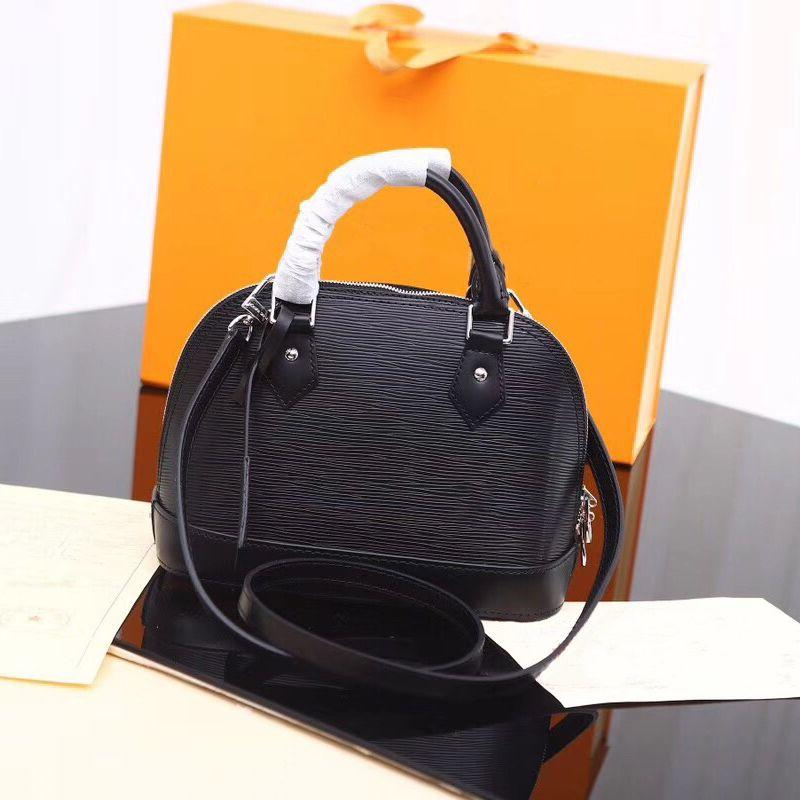 Luxury Classic Shell Bag Damier pelle verniciata Griglia borse del progettista Borse Tracolle Women della tela Crossbody borsa shopping