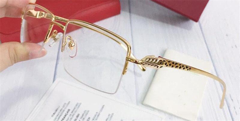 أزياء الجملة نظارات معدنية نصف الإطار برغي جولة الساقين النظارات البصرية الرجال الكلاسيكية أسلوب عمل بسيط CT0064