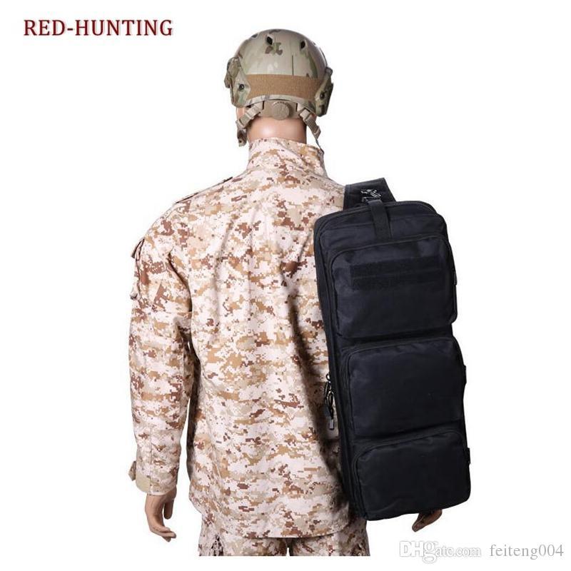 Tactical Airsoft Carrying Dual Rifle Case MP5 Gun Bag 24'' Black Hunting Shoulder Bag Rifle Gun #351943