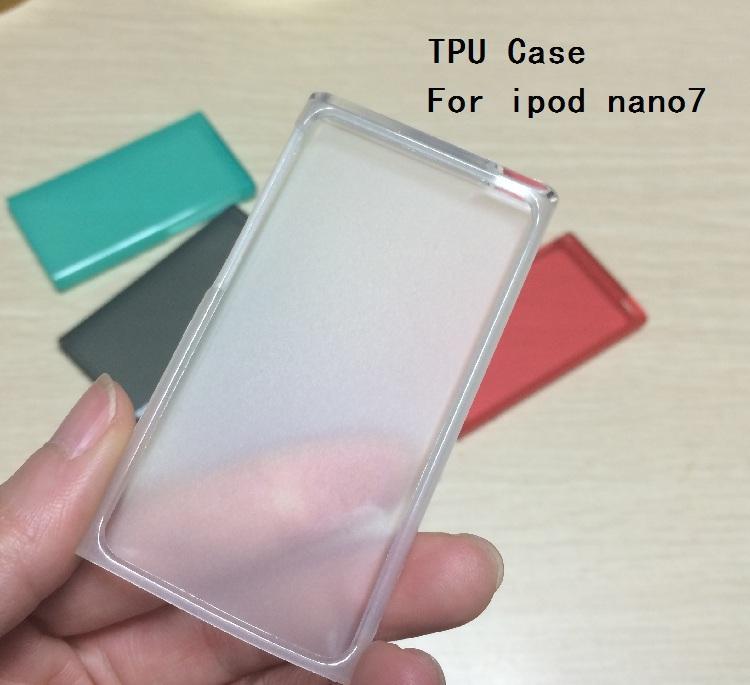 New Geada TPU claro transparente pele de silicone Gel de borracha macia tampa do caso para Nano 7ª Gen 7 7G casos fundas coque