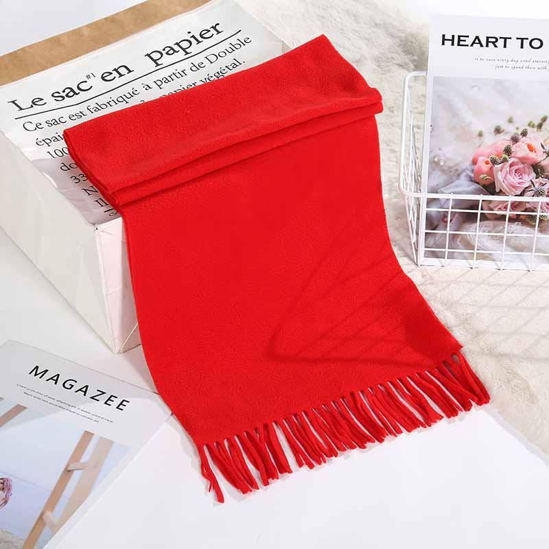Cotton Scarf Scarf Mulheres 2019 Quente New Style Outono Inverno lenços de moda longo xale de cashmere das mulheres vermelhas