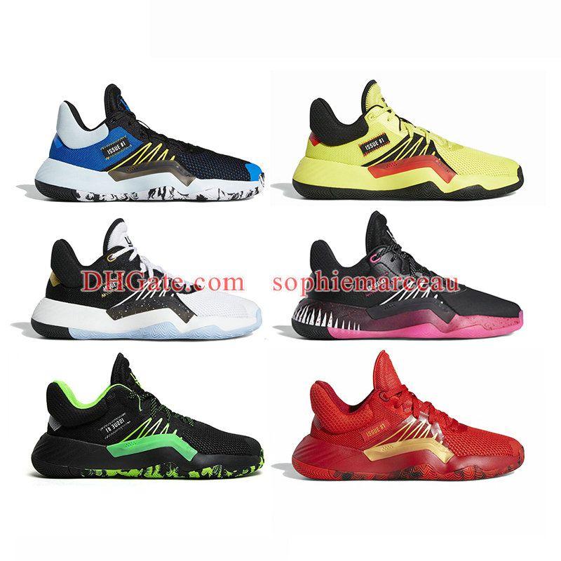 Con la scatola 2020 nuovi Mens D.O.N. Issue # 1 scarpe da basket Donovan Mitchell Spida 1s lusso Dimensioni scarpe da tennis di trasporto 40-46 L3