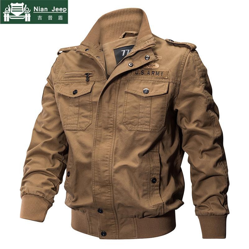 2018 Куртка Мужская Большой Размер 6XL Bomber Куртка Мужская Осень Зима Пиджаки Повседневная Хлопок Полет Jaqueta masculina