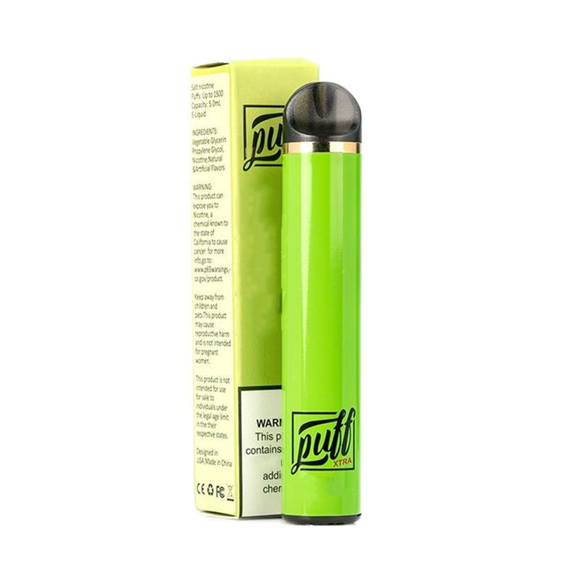 최신 퍼프 Xtra Xtra 일회용 vape 펜 1500puffs 미리 채워진 5ml 카트리지 스타터 키트 바 플러스 디바이스 시스템