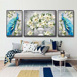 2020 5d Diamond Painting Full Rhinestones Vintage Designs Blue Peacock And Flower Vase Mosaic Kit Diy Home Decor Wall Stickers From Yigu002 137 38 Dhgate Com