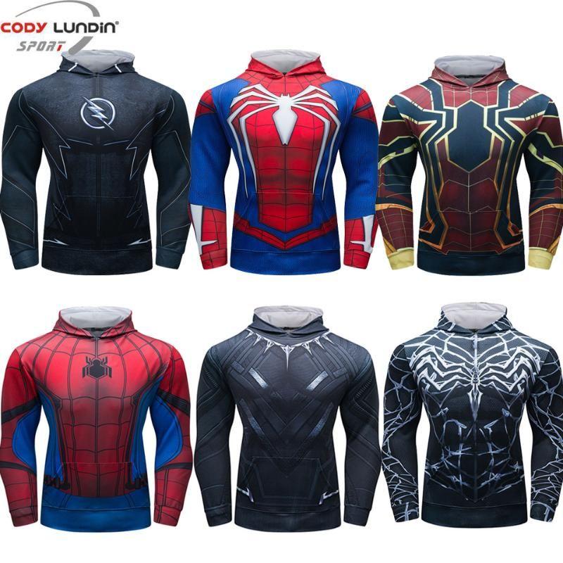 Tişört vücut geliştirme kiriş tankı baskı Superhero 3D erkeklere Rashguard Gömlek Hoodie fitnes Uzun Kollu adamlar eşofmanı başında