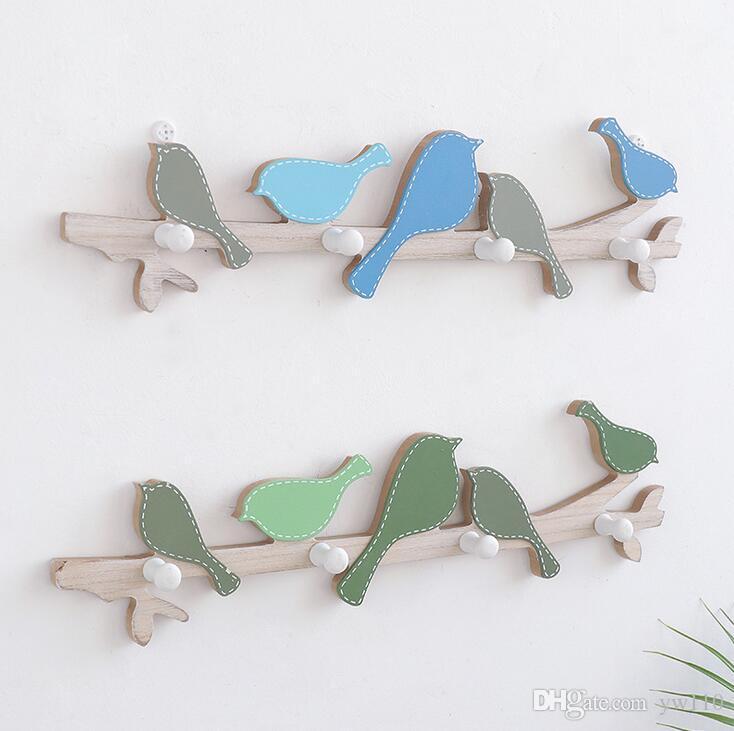 Crochet de manteau oiseau en bois créatif américain Crochet de salle d'essayage crochet porte manteau porte mur