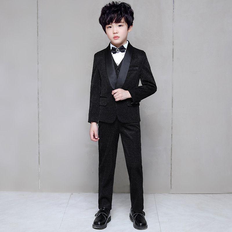 çocuk smokin çiçek çocuğun elbise düğün çocuklar için siyah çocuğun takım elbise erkek takım elbise özel günlerinde balo tırmanmak