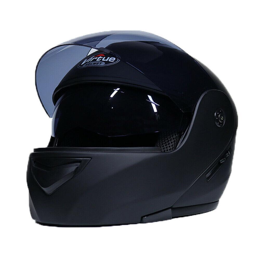 Le double casque modulaire de moto de visière ouvrent le scooter complet de vélo de route de Motorcross de visage